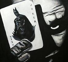 Joker Acrylic Painting by Colin Bradley