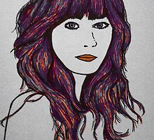 Sharpie Zooey Deschanel by pyjamaszoidpics