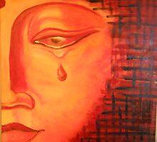 FLAMING BUDDHA by ReikiLady54