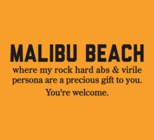 Malibu Beach Abs by Location Tees