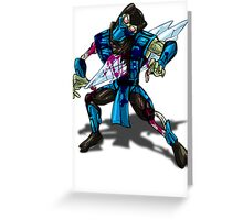 Zombie Sub Zero Greeting Card
