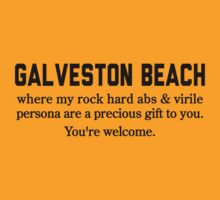 Galveston Beach Abs by Location Tees