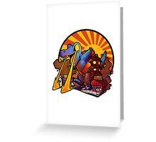LASER GATOR Greeting Card