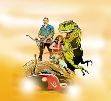 Cadillacs and Dinosaurs - Tablet & Phone Cases by DGArt