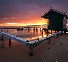 Shelly Beach Red Dawn by Nick Skinner