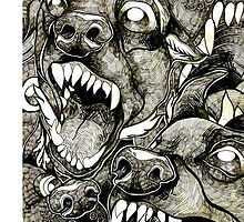 "Abstract ""Crazy Dogs"" by mhykel"