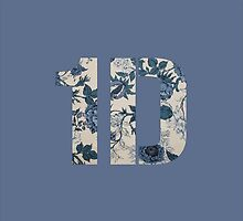 One Direction - 1D Floral Design (Blue) by fandomstop