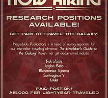 Megadodo Hiring Poster by knolster