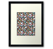 abstract pattern with origami  Framed Print