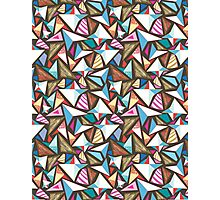 abstract pattern with origami  Photographic Print