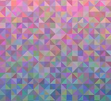 Abstract background from triangles in shades of pink and blue by amovitania