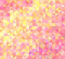 Abstract background from triangles in shades of pink and yellow by amovitania