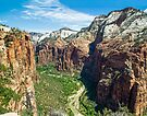 Zion Canyon from Angels Landing by Kenneth Keifer
