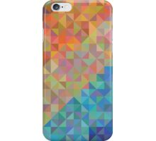 Abstract background from triangles of natural colors iPhone Case/Skin