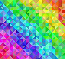 Abstract spectrum background from triangles by amovitania