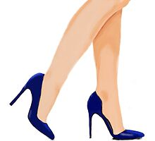 She's got legs and blue shoes by N3llb