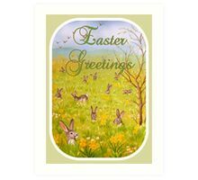 Easter Greetings Art Print