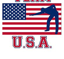Billiards Player American Flag Team USA by kwg2200