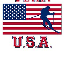 Skiing American Flag Team USA by kwg2200