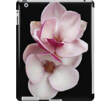 tulip magnolia twins (black bg) iPad Case/Skin
