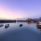 Nightfall over Newhaven Harbour, Edinburgh by Miles Gray
