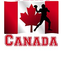 Football Quarterback Canadian Flag Team Canada by kwg2200