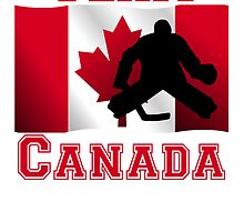 Hockey Goalie Canadian Flag Team Canada by kwg2200