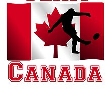 Rugby Kick Canadian Flag Team Canada by kwg2200