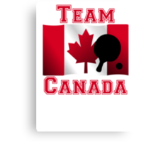 Table Tennis Canadian Flag Team Canada Canvas Print