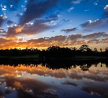 Telarah Lagoon Sunset by Bob Maloney