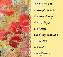 Serenity Prayer Poppies Abstract by serenitygifts