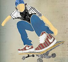 Skateboard 1 by Janet Carlson