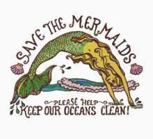 Save The Mermaids Pretty Logo Tee/Sticker by punkypromises