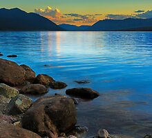 Peaceful Evening - Lake McDonald by Beve Brown-Clark