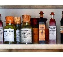 Pickles, Ketchup and Worcestershire Sauce Photographic Print