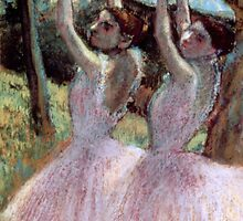 Dancers in violet dresses by Bridgeman Art Library