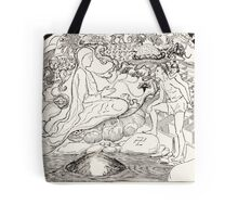 Pau Amma the Crab running away while the Eldest Magician was talking to the Man and his Little Girl Daughter Tote Bag
