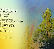 Serenity Prayer Rainbow Pines by serenitygifts