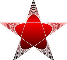 Red and Black Pentagram by lucid-reality