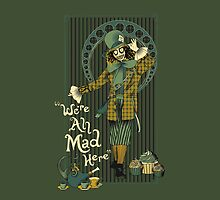 Spooky Mad Hatter ipad by EdWoody