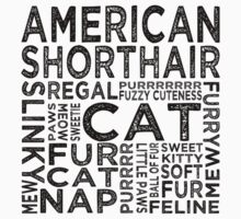 American Shorthair Cat Typography by Wordy Type