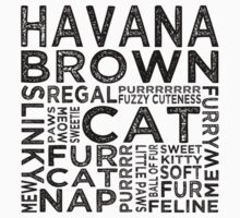 Havana Brown Cat Typography by Wordy Type