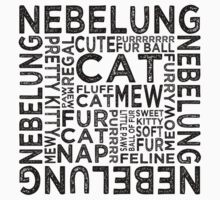 Nebelung Cat Typography by Wordy Type