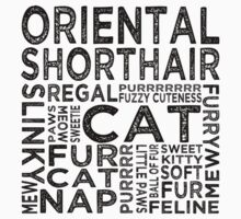 Oriental Shorthair Cat Typography by Wordy Type