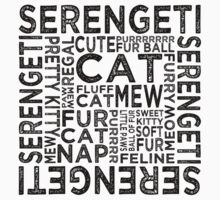 Serengeti Cat Typography by Wordy Type