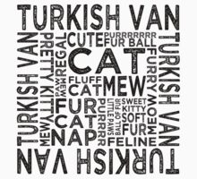 Turkish Van Cat Typography by Wordy Type