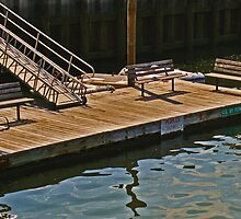 Dock at Northport Harbor by Gilda Axelrod