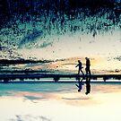 Walking the mile by Beata  Czyzowska Young