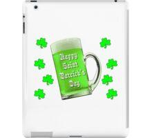 Shamrocks & Green Ale St. Patrick's Day iPad Case/Skin