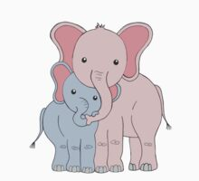 Elephant Family Mom and Son Kids Clothes